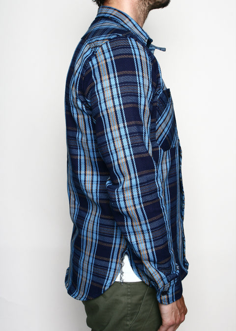 Rogue Territory BM Work Shirt Indigo Plaid