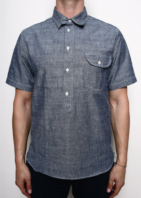 Rogue Territory Popover Shirt Blue Chambray