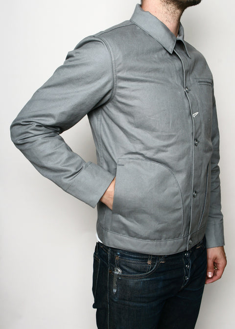 Rogue Territory Lined Grey Canvas Supply Jacket