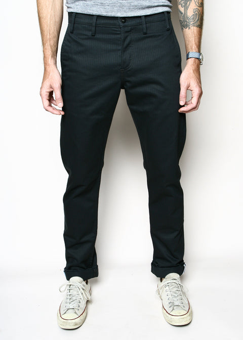 Rogue Territory Officer Trouser Graphite Herringbone Twill