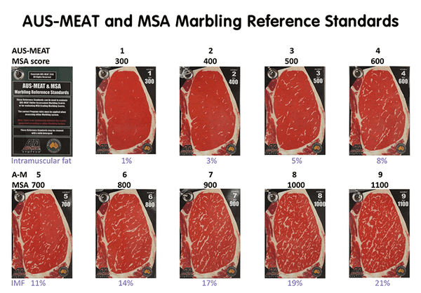 AUS-MEAT Marbling Reference
