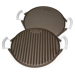 Cast Iron Reversible Griddle (Green Egg Friendly) - 12.5 inch - Meat N' Bone