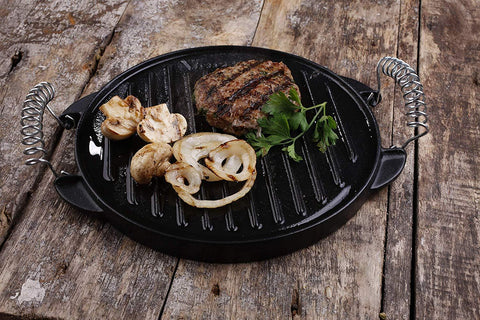 Cast Iron Reversible Griddle (Green Egg Friendly) - 12.5 inch