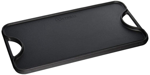 Reversible Rectangular Griddle | Cast Iron (Large) - Meat N' Bone