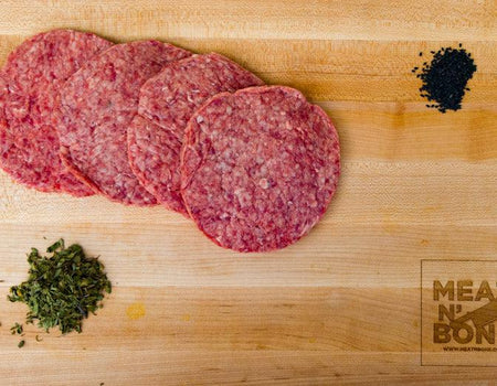 Steakhouse 1/4 lbs Burgers (4 patties) | USDA Prime/Choice - Meat N' Bone