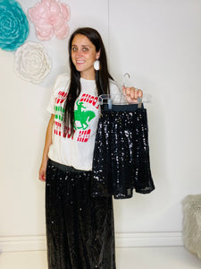 Stella Kids Black Sequin Skirt