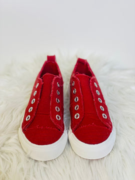 Audrey Red Slip On Sneakers