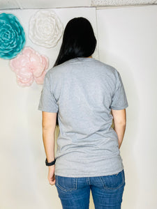 Ashley Boy Mom Gray Tee - Rusty Soul