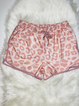 Lucy Pink Leopard Everyday Shorts