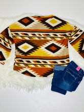Load image into Gallery viewer, Audrey Brown Aztec Print Sweater - Rusty Soul