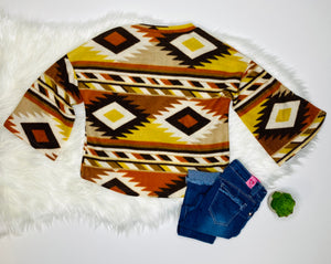 Audrey Brown Aztec Print Sweater - Rusty Soul