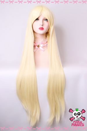 100cm Long Blonde Cosplay Wig