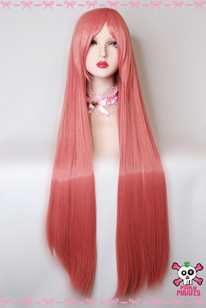 100cm Long Pink Cosplay Wig