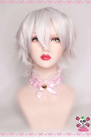 35cm Short White Cosplay Wig