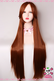 100cm Long Brown Cosplay Wig
