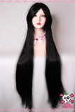 100cm Long Black Cosplay Wig