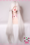 100cm Grey Silver Long Cosplay Wig