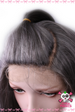 Grey U Part Curly Front Lace Wig