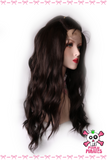 Brown Black U Part Curly Front Lace Wig