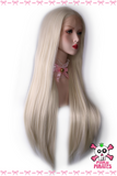 Platinum Blonde Long Straight Lace Front Wig