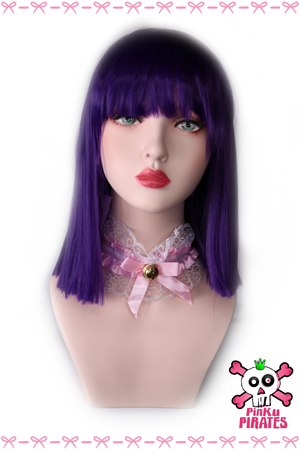 Purple Straight Short Bob Wig