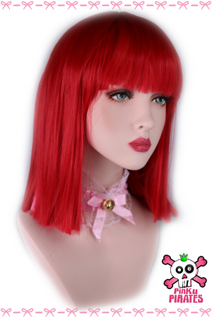 Red Straight Short Bob Wig