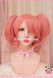Pink Clip-On Cosplay Wig