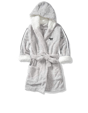 Victoria's Secret Sparkly Cozy Short Hooded Robe