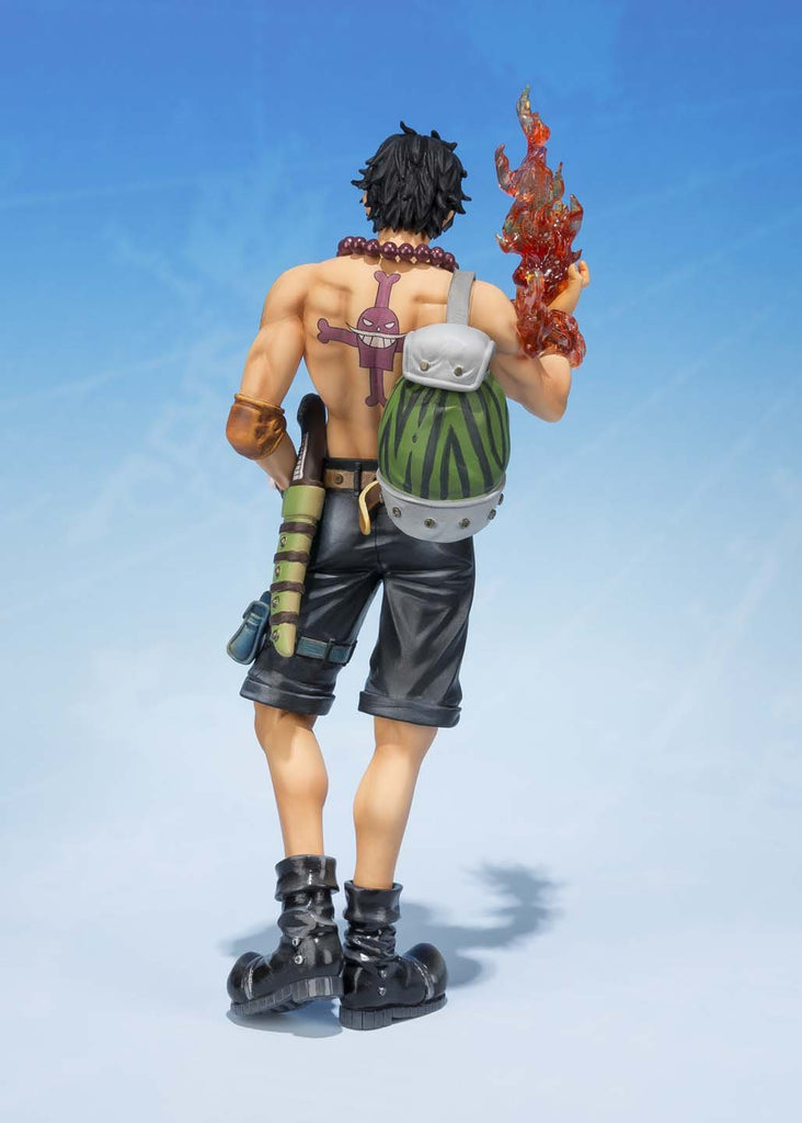 Bandai Tamashii Nations S.H.FiguartsZERO Portogas.D.Ace 5th Anniversary Edition One Piece Action Figure