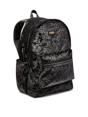 Victoria's Secret Limited Edition Black Gold Velvet Backpack