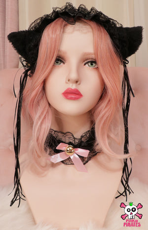 Noir Princess Cat Ears Headband & Tail Set