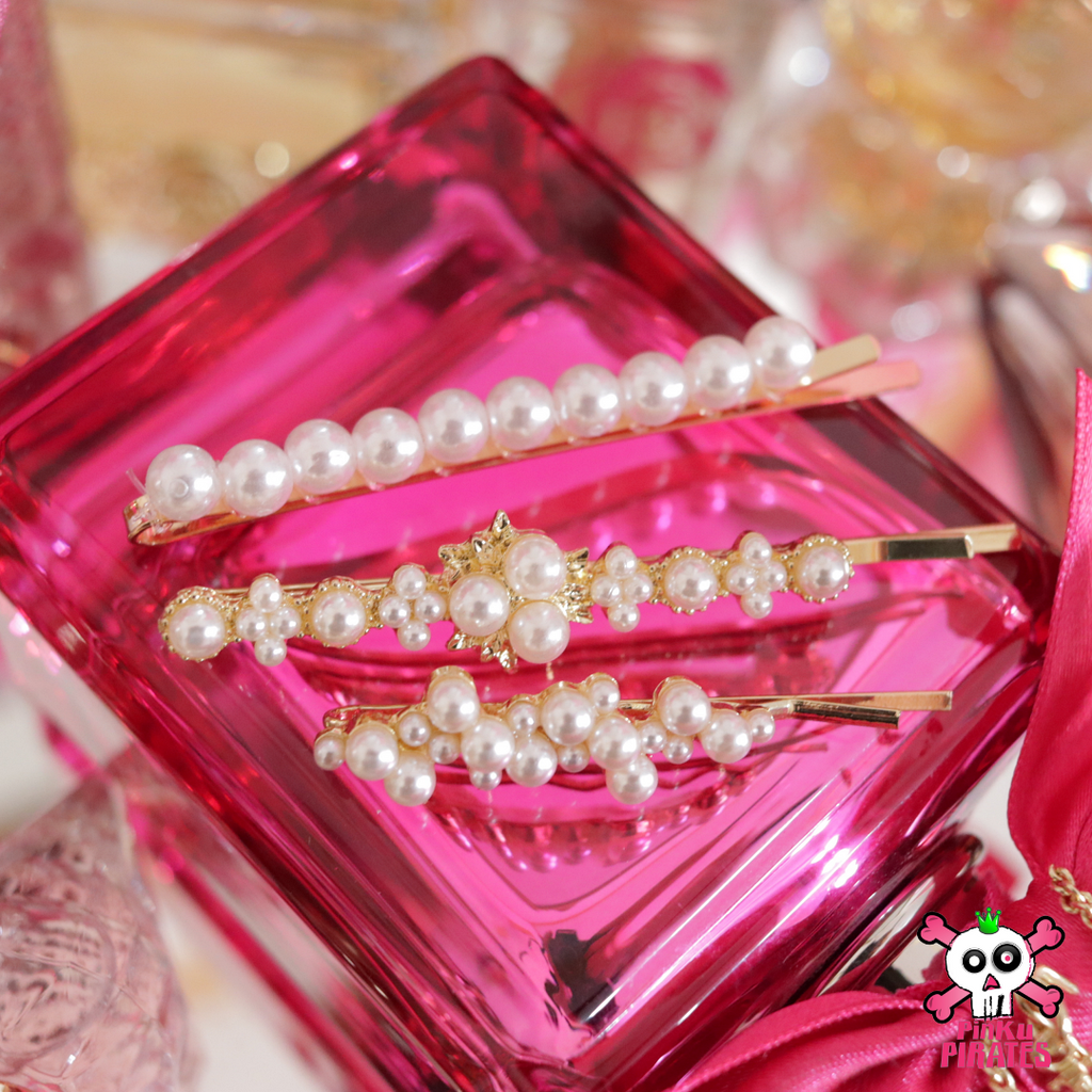 Royale Floral Pearl Hairpin Set