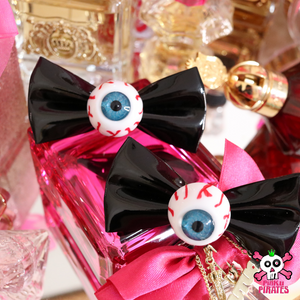 Harajuku Creepy Goth Eyeball Hairbow Clips -BLACK