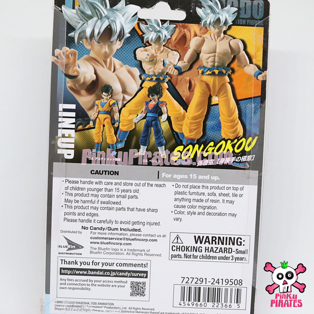 Bandai Shokugan Shodo Dragon Ball Super Ultra Instinct Son Goku - FREE SHIPPING