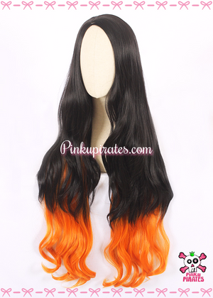 Kimetsu No Yaiba/Demon Slayer Nezuko Kamado Long Cosplay Wig