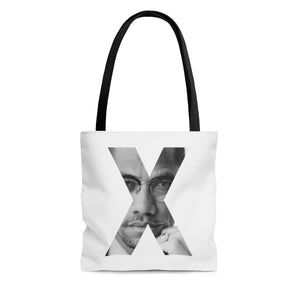 Malcolm X Tote Bag-African American Bag-Afrocentric Tote Bag- Socially Conscious Bag-Melanin Magic-Civil Right Movement Bag - kemetistry
