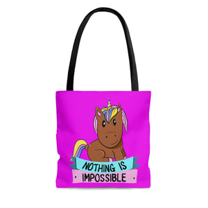 Brown Skin Melanin Unicorn Tote Bag-Afrocentric Tote Bag-African American Bags-Melanin Magic-Black Girl Magic - kemetistry