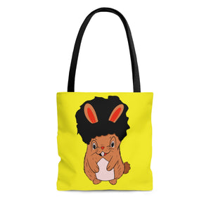 Brown Bunny Tote Bag-Afrocentric Tote Bag-African American Bag-Melanin Magic - kemetistry