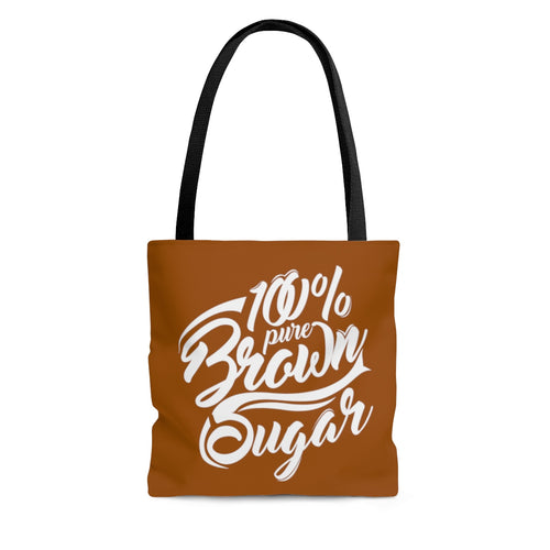 100% Brown Sugar Tote Bag-Melanin Poppin-Afrocentric Tote Bag-  Black Girl Magic| - kemetistry