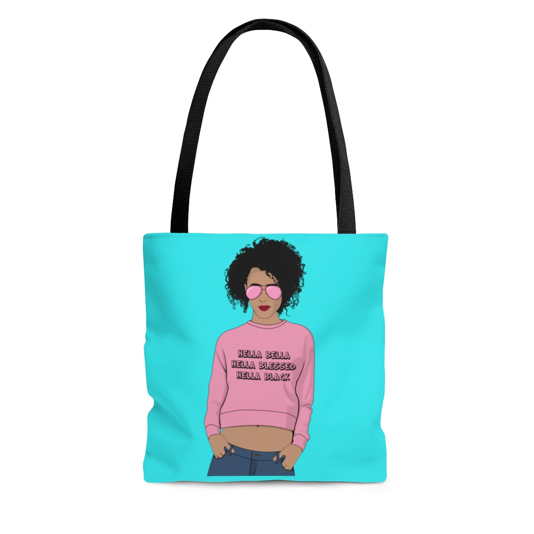 Hella Black Tote Bag-Afrocentric Tote Bag-Melanin Magic - kemetistry