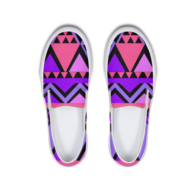 Purple kente Slip-On Canvas Shoe - kemetistry