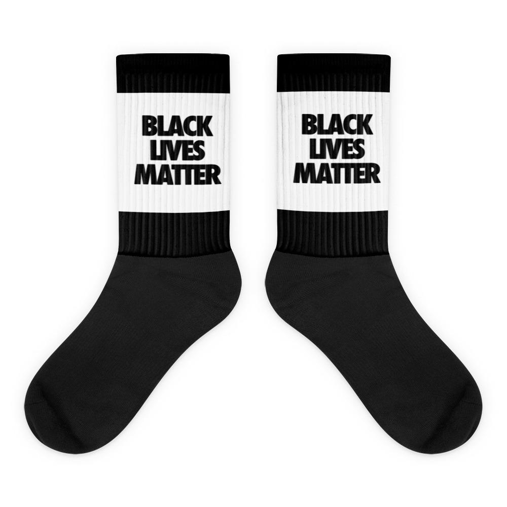 Black and White Black Lives Matter Socks - kemetistry