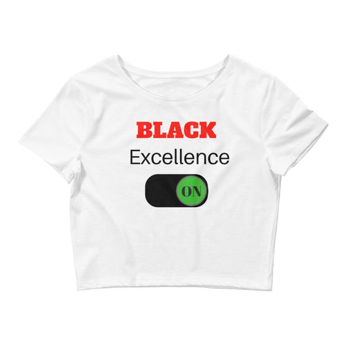 Black Excellence On Crop Tee - kemetistry