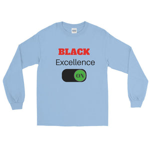 Black Excellence On Long Sleeve T-Shirt - kemetistry