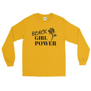 BLACK GIRL POWER Long Sleeve T-Shirt - kemetistry