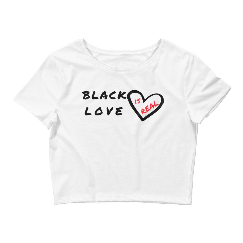Black Love Is Real Crop Tee - kemetistry