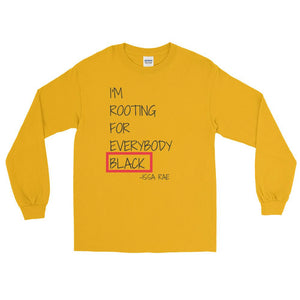 Rooting For Everybody Black Long Sleeve T-Shirt - kemetistry