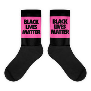 Pink Black Lives Matter Socks - kemetistry