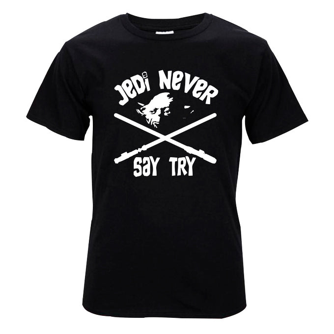 "Master Yoda ""Jedi Never Say Try"" Star Wars T-shirt - moviesforce.com"