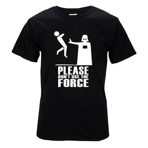 "Darth Vader ""Please Don't Use The Force"" Star Wars T-shirt - moviesforce.com"